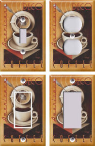 Image Is Loading Americana Deco Coffee Light Switch Covers Home Decor