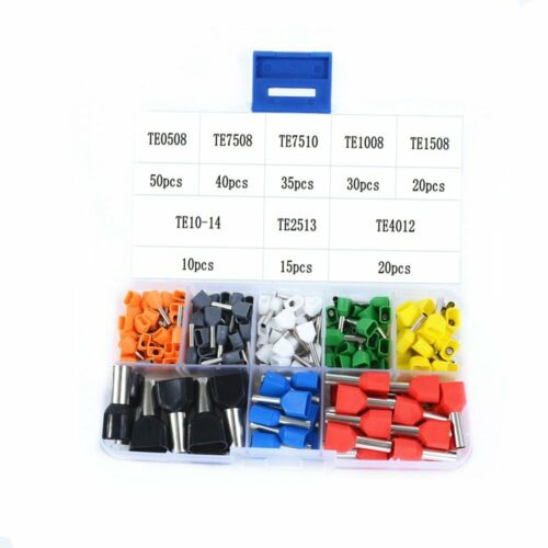240pcs  Insulated Terminals TE0508~TE10-14 Connector Wire Ferrules End Sleeve