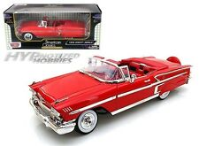 MOTORMAX 1:18 1958 CHEVY IMPALA CONVERTIBLE DIE-CAST RED 73112