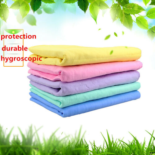 Natural Chamois Leather Car Cleaning Cloths Washing Suede Absorbent Towel S L