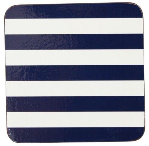 4er Set Untersetzer Stripes abwischbar Korkunterseite Krasilnikoff Danish Design