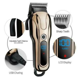 Barber-Professional-Cordless-Electric-Hair-Clipper-Trimmer-Beard-Cutter-Haircut
