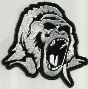 Biker Vest Patches >> ANGRY GORILLA HEAD MOTORCYCLE JACKET VEST BIKER PATCH