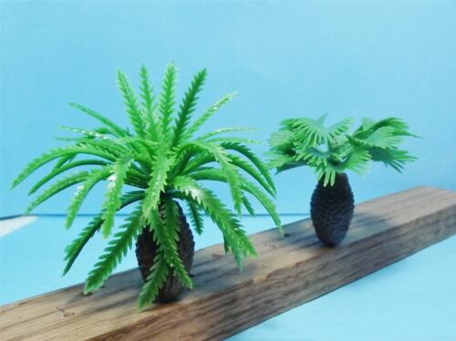 Multi Scale-6 Piece Assortment of Mid-Size Bottle Palm Trees-2 Styles in 2 Sizes