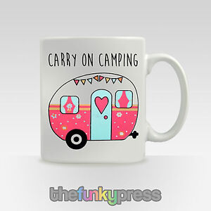 Carry-On-acampada-Taza-Tea-Taza-de-cafe-Eslogan-Caravana