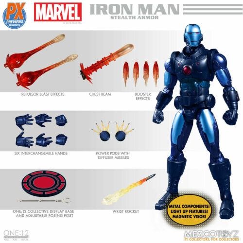 Mezco Toys One:12 Collective The Invincible Iron Man Stealth Armor PX Exclusive