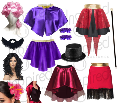 Adult The Greatest SHOW Wear Bearded LADY Costume Skirt and Wrap This Is Me