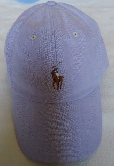 7dfd99ef0 Polo Ralph Lauren Mens Light Lavender 100 Cotton Baseball Cap One ...