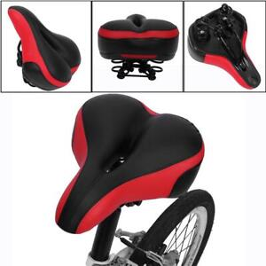 Bike Bicycle Wide Big Bum Soft Extra Comfort Saddle Seat Cushion Pad Sporty