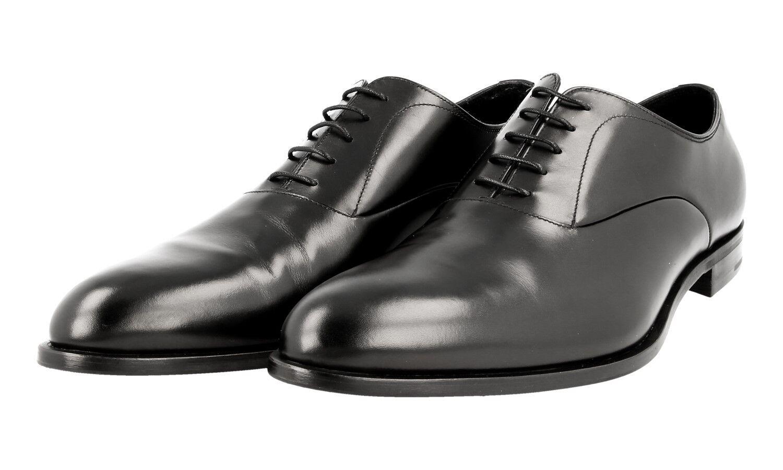 Authentique De Luxe PRADA Business Chaussures 2EA099 Noir Nouveau US 11 EU 44 44,5