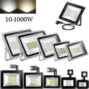2X 20W LED Fluter mit Bewegungsmelder Außen Strahler Flutlicht Kaltes Sicherheit