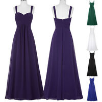 Stock Chiffon Women Formal Party Evening Dresses Long Prom Cocktail Gown Banquet