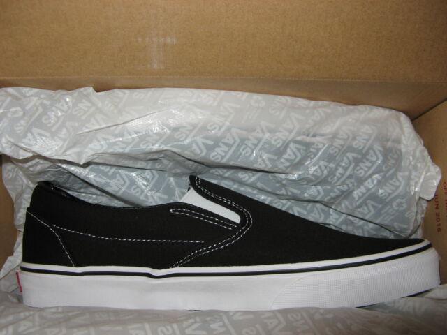 Vans Slip On Mens Casual Canvas Skate Shoes Sneakers Black 10 13