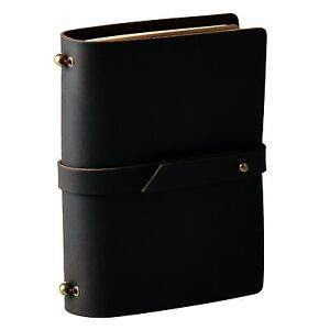 """5""""x3.5"""" Brown Handmade Horse Leather Travel Journal Schedule Refillable Notebook"""