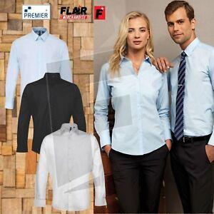 Mens Supreme Long Sleeve Poplin Shirt Business Formal Casual Smart