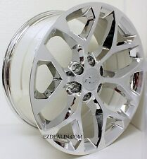 "New Set of Four 20"" Chevy Silverado Tahoe Chrome Snowflake Wheels Rims"
