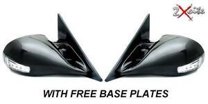 BMW 5 SERIES E60 BLACK M3 ELECTRIC DOOR WING MIRRORS LED INDICATORS BASE PLATES