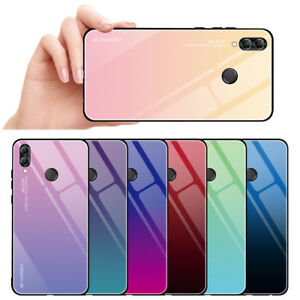 sale retailer 3c958 88846 Details about Shockproof Case Tempered Glass Back Cover For Huawei P Smart  2019 Honor 10 Lite