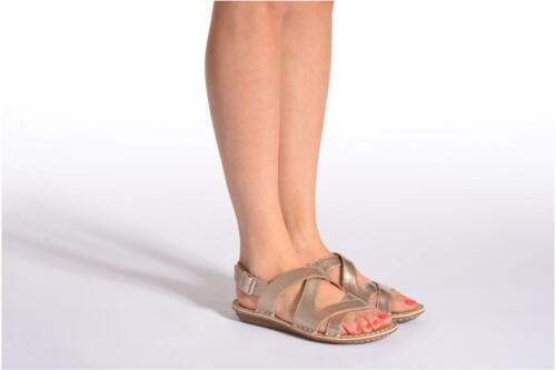 Tustin Clarks 7d Sandalias de mujer Reino Unido Spears cuero metalizado Tamaño para qZTw5
