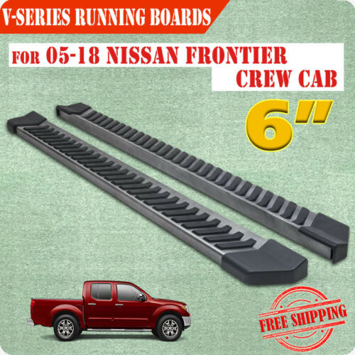 "Fit 2005-2020 NISSAN Frontier Crew Cab 6/"" Running Board Nerf Bar Side Step V BLK"