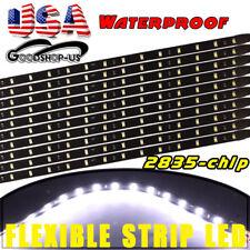 10pc White 2ft Waterproof Flexible LED Light Strip for Car Motor Boat Bike Truck