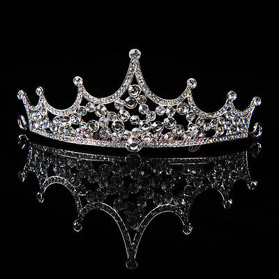 Princess Bridal Tiara Crown Headpiece Rhinestone Wedding Prom Pageant Crowns