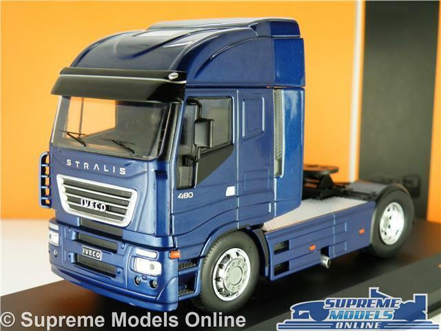 IVECO STRALIS MODEL LORRY TRUCK CAB UNIT 1 43 SCALE IXO Blau 2012 TR031 WAGON K8