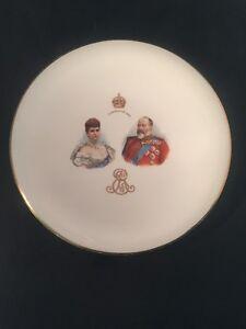 Royal-Doulton-King-Edward-V11-And-Queen-Alexandra-Coronation-1902-Plate-Royal