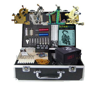Details about New Complete set Tattoo machine kit tattooing equipment power  high quality set