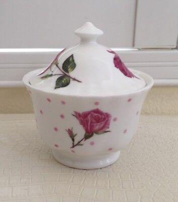 Roy Kirkham Vintage Rose Covered Sugar Bowl