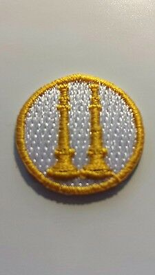 Firefighter Captain or Battalion Chief collar patch  2 horns straight