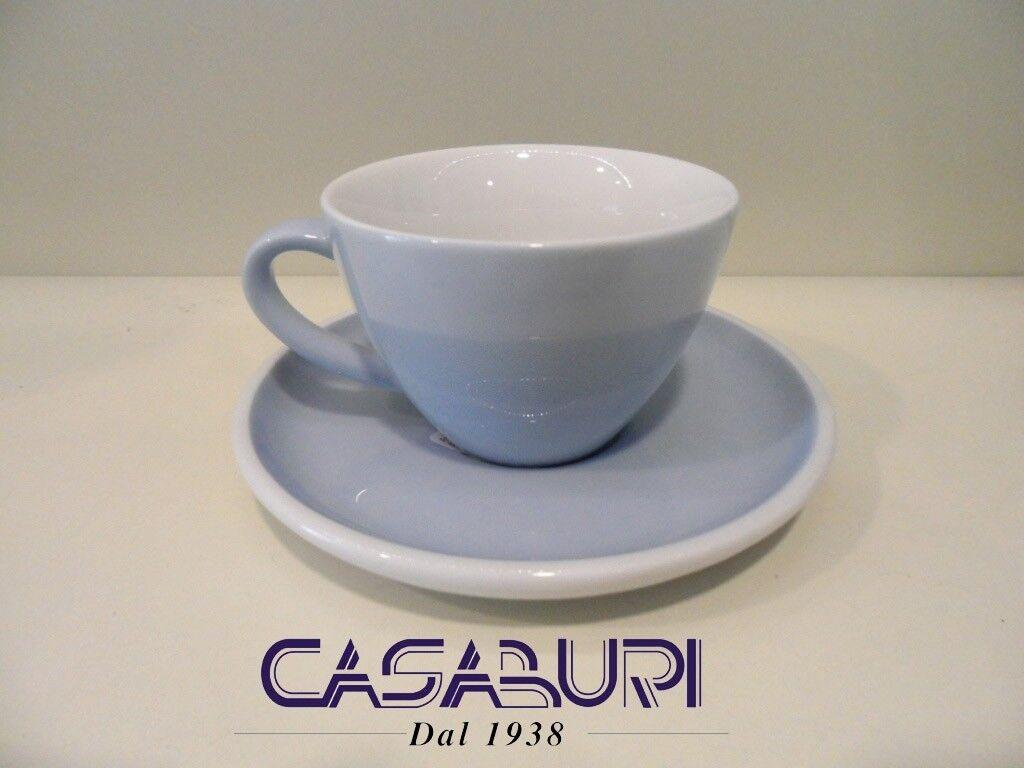 Arzberg PROFI Set 6 TAZZE CAFFE' con Piattino Couleurate Azzurro Cielo