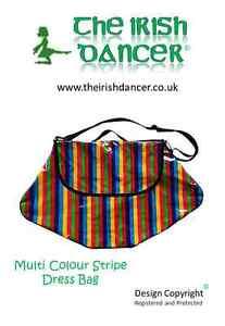 Stripes Large Zebra /& Leopard Irish Dancing Dress Bag