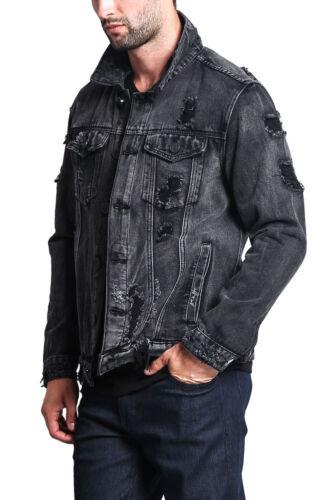 DK100 II7C NWT Victorious Men/'s Wash Distressed Denim Jean Jacket