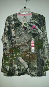 * Neuf Avec Étiquettes --- Mossy Oak Femme à Manches Longues Camo Tee Shirt Taille Xl Neuf Avec étiquettes-afficher Le Titre D'origine