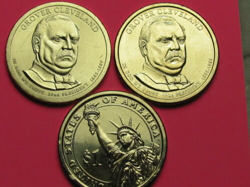 - $1 Presidential Golden Dollar Coin Set Grover Cleveland 1st Term 2012 P/&D