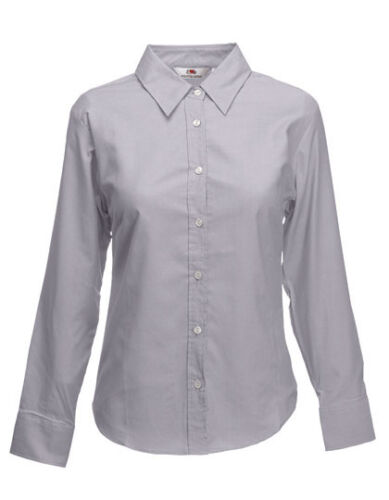 C 3XL  F700 Fruit of the Loom Long Sleeve Oxford Shirt Lady Fit XS