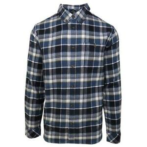 O-039-neill-Men-039-s-Navy-Redmond-Plaid-L-S-Flannel-Shirt-Retail-60
