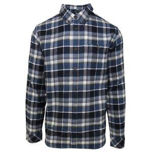 O-039-neill-Men-039-s-Navy-Redmond-Plaid-L-S-Flannel-Shirt-Retail-60