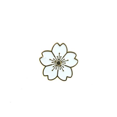 Kirschblüten Blume Brosche Emaille Pins Jacke Tasche Pin Badge Schmuck Gesc  X