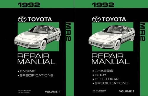 Bishko OEM Repair Maintenance Shop Manual Bound for Toyota Mr-2 1992