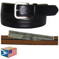 Money Travel Belt Black S Small Hidden Secret Zipper Pocket Hide Money Cash Pill