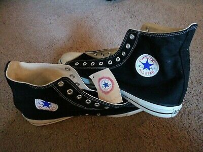 Converse Chuck Taylor All Stars wtag~Size 16~Black High Top~Made in USA 429201405177 | eBay
