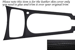 Black Leather Centre Console Trim Skin Cover Fits Bmw Z4