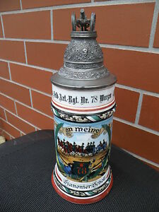 Reservisten-Krug 1901-1903 : 4.Haubitzbatterie des Feld-Art.Rgt.78 Wurzen
