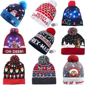 93c7ca20a77eba NEW-Christmas LED Hat Beanie Knit Cap Light Up Xmas Cap for *Women ...