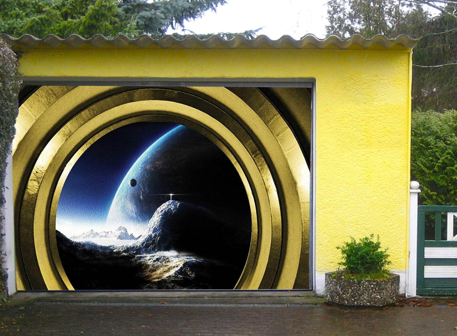 3D Äußere Planeten Garage Door Murals Wall Print Decal Wall Deco AJ WALLPAPER DE