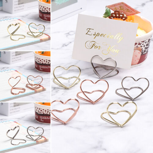 Shape Paper Clamp Clamps Stand Table Numbers Holder Place Card Photos Clips