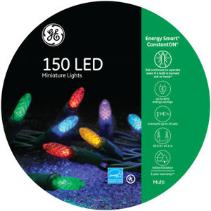 Details About Ge Energy Smart 150 Count Constanton Multicolor Mini M5 Led Christmas Lights