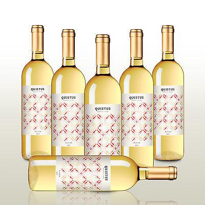 6 Fl. Quietus Verdejo + Viura 2016, Weißwein Spanien, Verdejo Blanco, trocken
